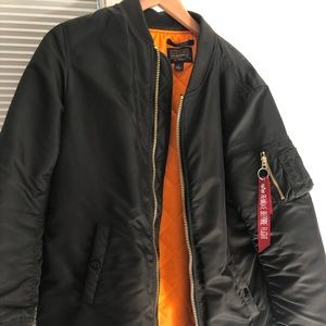 Alpha industries MA 1 long W flight jacket